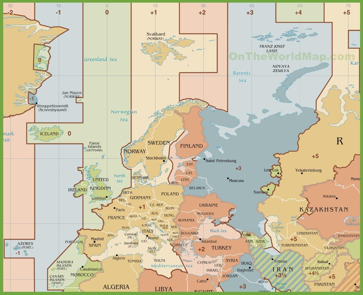 Karta Usa Tidszoner.Tidszon Karta Aigb